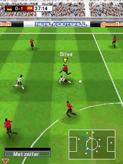Скріншот Symbian гри Real football 2009 3D sis на телефон. Ігровий процес.
