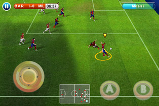 Play Real football 2010 HD for Symbian. Download top sis games for free.