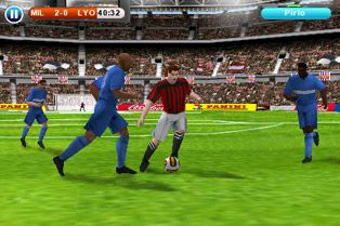 Скріншот Symbian гри Real football 2010 HD sis на телефон. Ігровий процес.