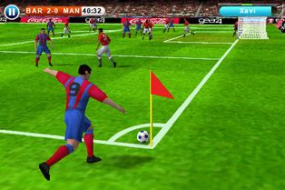 Real football 2010 HD - Symbian game screenshots. Gameplay Real football 2010 HD.
