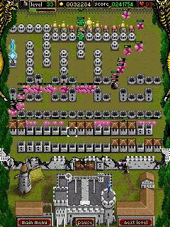Vier Elemente - Symbian-Spiel Screenshots. Spielszene Four Elements.