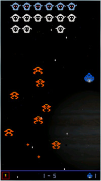 Retro Cosmos - Symbian game screenshots. Gameplay Retro Cosmos.