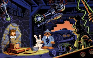 Скріншот Symbian гри Sam & Max: Hit the Road sis на телефон. Ігровий процес.