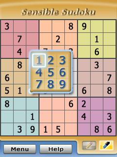 Sensible Sudoku - Symbian game  Sensible Sudoku sis download