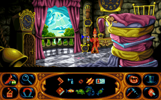 Simon the Sorcerer II The Lion, the Wizard and the Wardrobe - Symbian ゲームのスクリーンショット。 ゲームプレイサイモン・ザ・ソーサラー:ライオンと魔術師  。