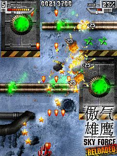 Força do Céu Refeita  - Screenshots do jogo para Symbian. Jogabilidade do Sky force: Reloaded.