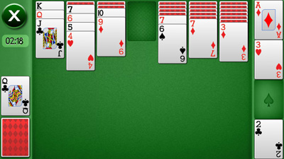 Solitaire touch - Symbian game screenshots. Gameplay Solitaire touch.