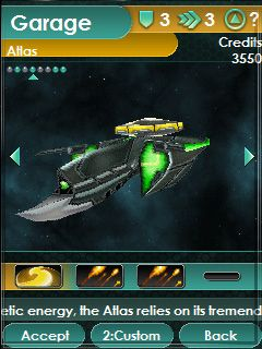 Space impact - Symbian game screenshots. Gameplay Space impact.