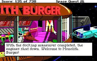 Weltraum - Quest 3: Die Piraten von Pestulon - Symbian-Spiel Screenshots. Spielszene Space Quest 3: The Pirates of Pestulon.