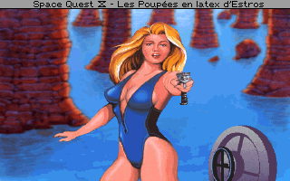Weltraum - Quest 4: Roger Wilco und die Zeitspringer - Symbian-Spiel Screenshots. Spielszene Space Quest 4: Roger Wilco and the Time Rippers.