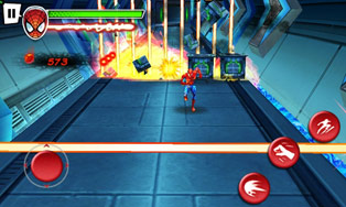 Spider-Man: Totales Chaos HD - Symbian-Spiel Screenshots. Spielszene Spider-Man total mayhem HD.