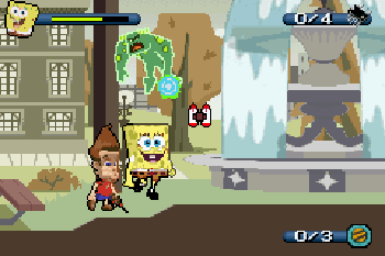 SpongeBob SquarePants and Friends Unite! - Symbian game screenshots. Gameplay SpongeBob SquarePants and Friends Unite!.