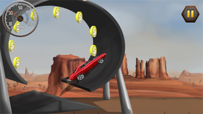 StuntCar Challenge - Symbian game screenshots. Gameplay StuntCar Challenge.