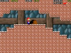 Super Mario reverse - Symbian game screenshots. Gameplay Super Mario reverse.
