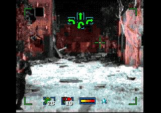 Coup chirurgical  - Écrans du jeu Symbian. Gameplay Surgical strike (Sega CD).