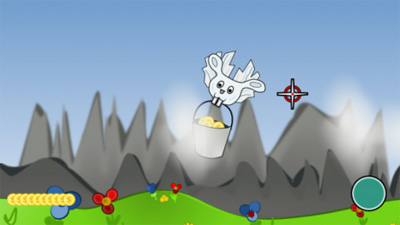 Jeu du Lapin - Écrans du jeu Symbian. Gameplay That Rabbit Game.