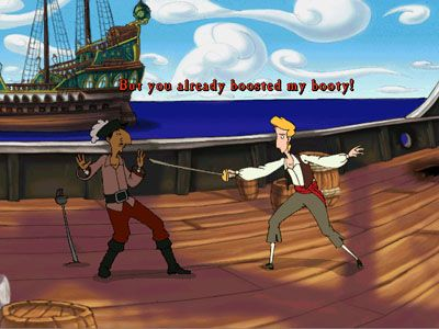 The Curse of Monkey Island - Symbian game screenshots. Gameplay The Curse of Monkey Island.