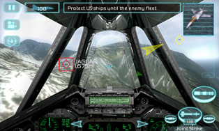H.A.W.X. de Tom Clancy HD - Écrans du jeu Symbian. Gameplay Tom Clancy's H.A.W.X HD.