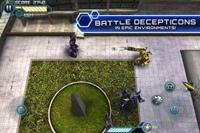 Transformadores O Lado Escuro da Lua HD  - Screenshots do jogo para Symbian. Jogabilidade do Transformers Dark Of The Moon HD.