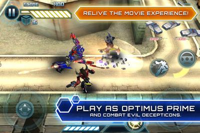 Скріншот Symbian гри Transformers Dark Of The Moon HD sis на телефон. Ігровий процес.