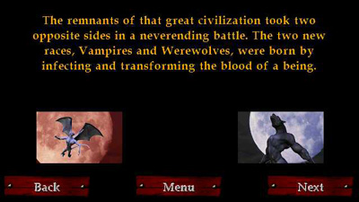 Vampires vs Werewolves - Symbian game  Vampires vs