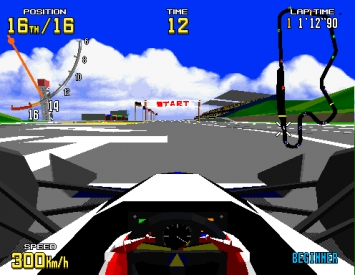 Courses virtuelles  - Écrans du jeu Symbian. Gameplay Virtua racing.