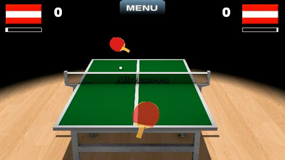 Ténis de Mesa Virtual 3D  - Screenshots do jogo para Symbian. Jogabilidade do Virtual table tennis 3D.