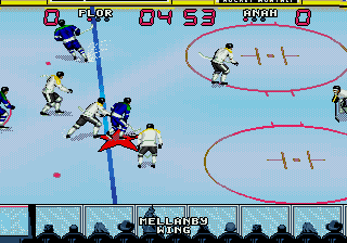 Wayne Gretzky und die NHLPA All-Stars - Symbian-Spiel Screenshots. Spielszene Wayne Gretzky and the NHLPA All-Stars.