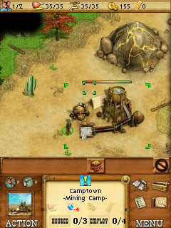 Ocidental  - Screenshots do jogo para Symbian. Jogabilidade do Westward.
