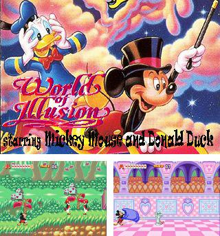 Zusätzlich zum sis-Spiel Grabräuberin: die Legende für Symbian-Telefone können Sie auch kostenlos Mickey Moude und Donald Duck in der Welt der Illusionen, World of illusion starring Mickey Mouse and Donald Duck herunterladen.