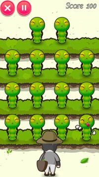 Würmer - Attacke - Symbian-Spiel Screenshots. Spielszene Worms Attack.