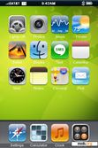 Download mobile theme Iphone-Limegreen Theme