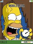 Download mobile theme Homero Simpson