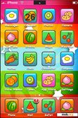 Download mobile theme stars with cute fruity icons