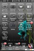 Download mobile theme Blue Rose