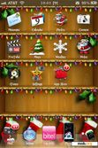 Download mobile theme Christmas Shelves