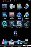 Download mobile theme Blue and Black