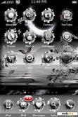 Download mobile theme Black Moon/Butterflies