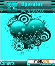 Download mobile theme green heart s60v3