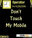 Download mobile theme animated dont touch by notturno