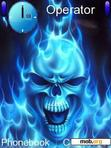 Download mobile theme Flaming Skull 1.4