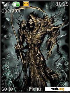 Download horror skull theme 106543.