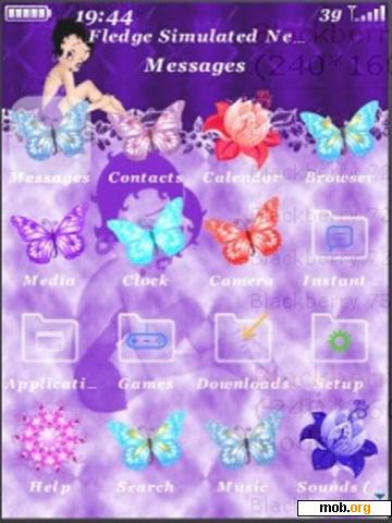 Download Free Butterflies Lingering Over Betty Boop Theme For