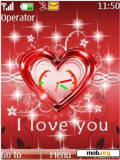 Download Free Flash Love Clock Theme For Symbian S40 5th Edition