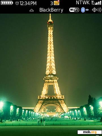 Download free Eiffel Tower theme for BlackBerry OS 4 1