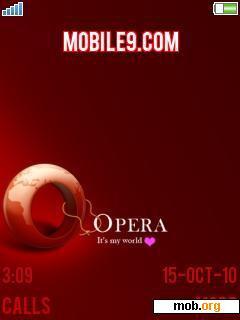 Download free Dark Opera Mini theme for Sony Ericsson 4 8