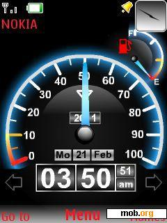 Download free Speedometer theme for Symbian S40 5th Edition