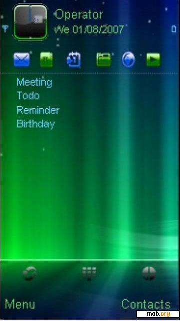 Download free Neon Vista Abstract theme for Symbian OS 9 4