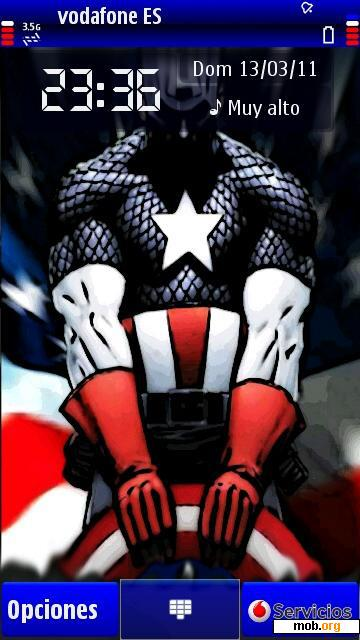 Download free Captain America theme for Symbian OS 9 4 / S60 5th