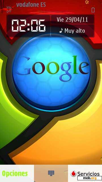 Download free Google Chrome theme for Symbian OS 9 4 / S60